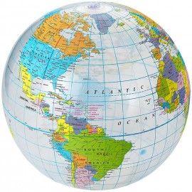 Ballon publicitaire en forme de globe terrestre