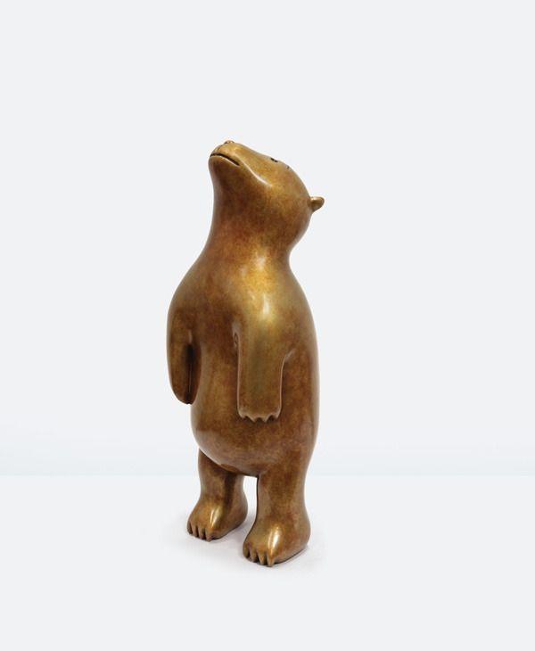 """Marlborough Gallery — bronze """"Standinig Bear"""" by Tom Otterness"""