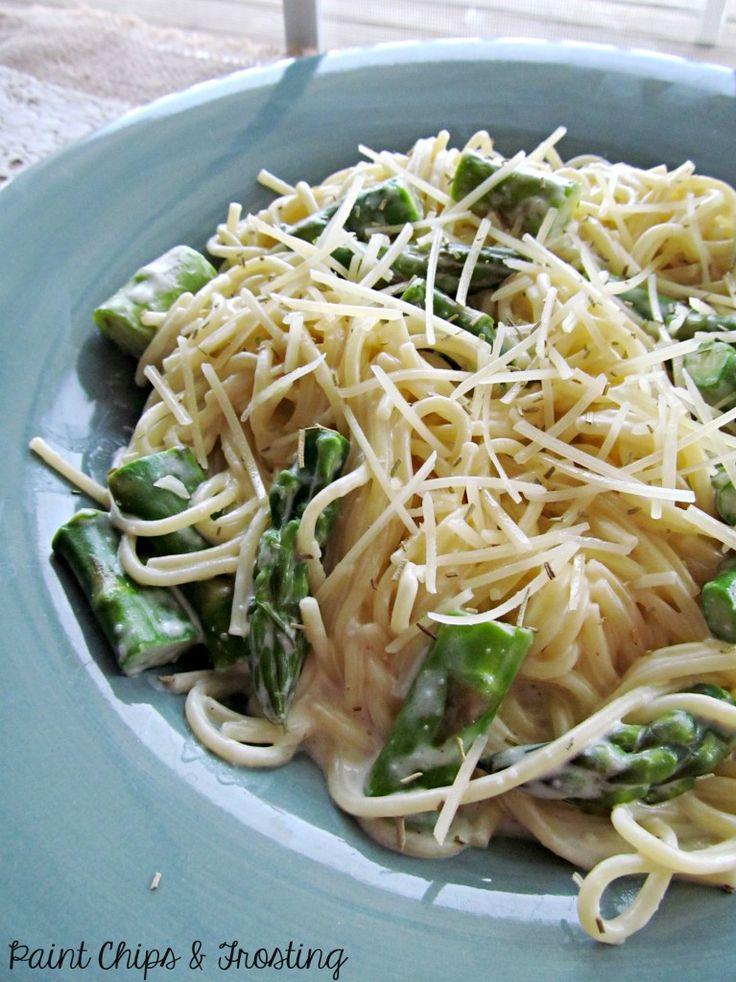 Asparagus pasta, Sauces and Asparagus on Pinterest