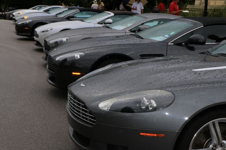 2016 Texas All British Car Days event. Despite heavy rain at times, the show took place although attendance was necessarily reduced. Here is an image of the long row of Aston Martins.