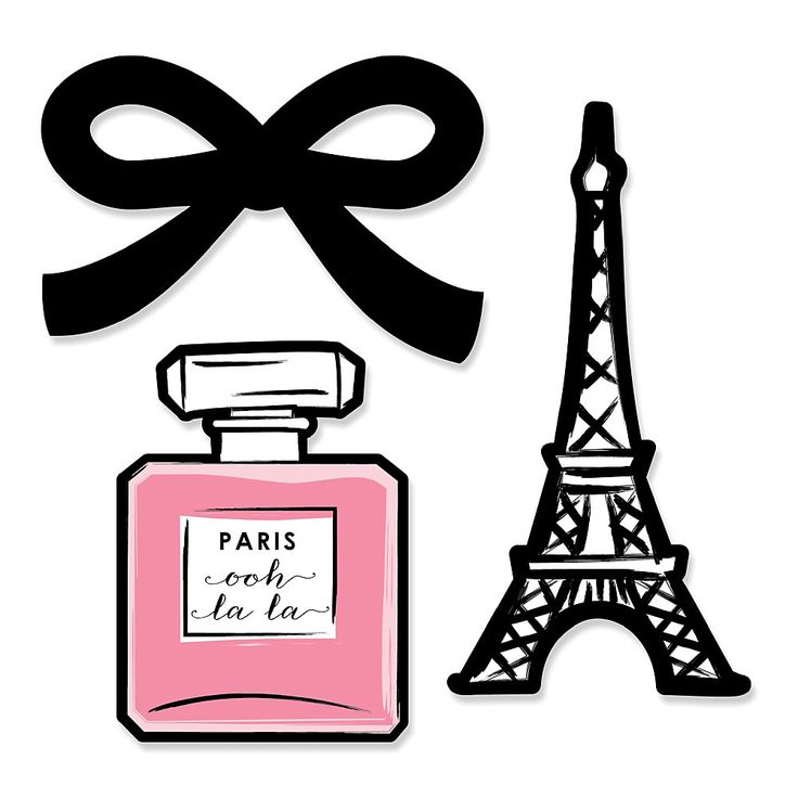 Paris, Ooh La La - Shaped Paris Themed Party Paper Cut-Outs | BigDotOfHappiness.com