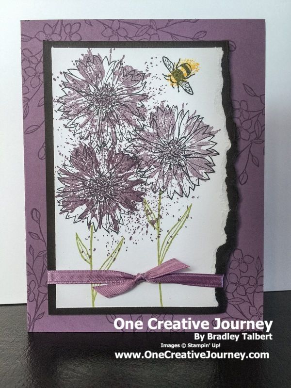 "I don't know how I had missed that there was a bee in this set until I sat down to create a card with it. It is even a realistic looking bee. As many who know me, I don't do ""cute…"