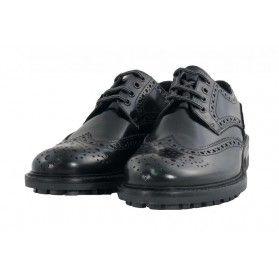 Scarpa Brogue - Soldini Uomo  #scarpe #brogue #derby #uomo #madeinitaly #verapelle #black #Soldini