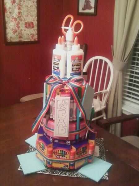 School Supply Cake crafts