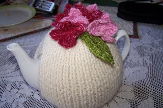 Tea Cosy with pattern.