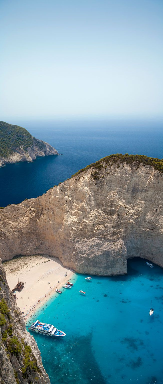 La baie du naufrage, île Zante, Grèce