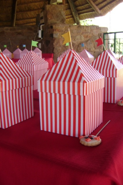 Circus Tent Party Favour Boxes