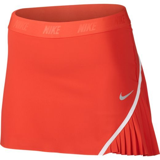 "Max Orange Nike Ladies Flex 14.5"" Woven Pull-On Golf Skort. Find more stylish #fitness and golf / tennis ladies outfits at #lorisgolfshoppe"