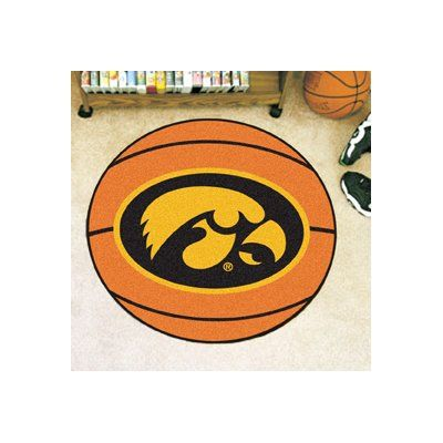 FANMATS NCAA University of Iowa Basketball Mat