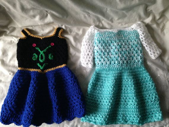 These are hand-made Princess dresses inspired by Disney's Frozen Queen Elsa and Princess Anna. Great for photo-props, Halloween, everyday wear