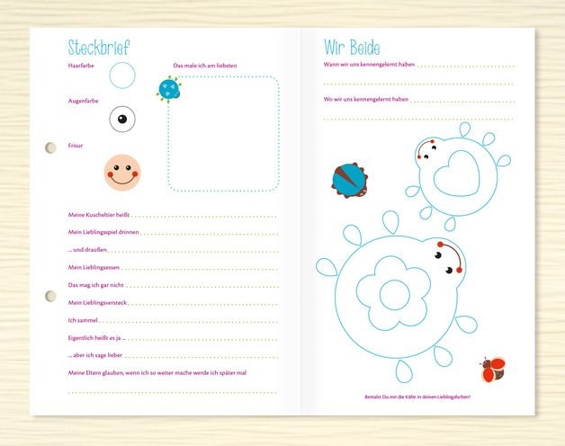 freundebuch seiten f r kindergartenkinder produkte. Black Bedroom Furniture Sets. Home Design Ideas