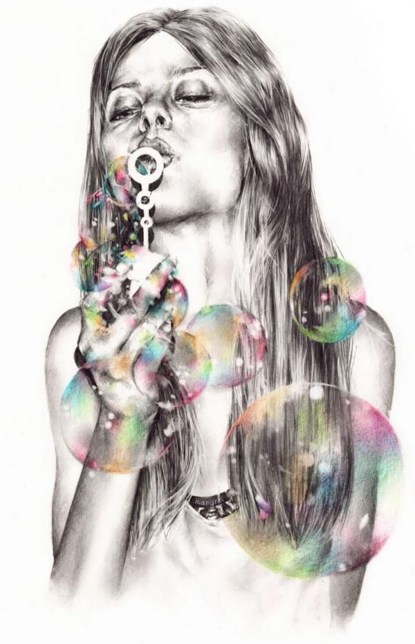 #pencil #pic #bubbles ------------------------------------------------------ Fallow my Instagram @_ang_b.e