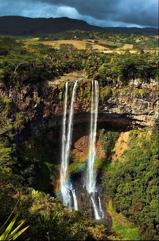 Rainbow and Waterfall, Mauritius | Places | Pinterest