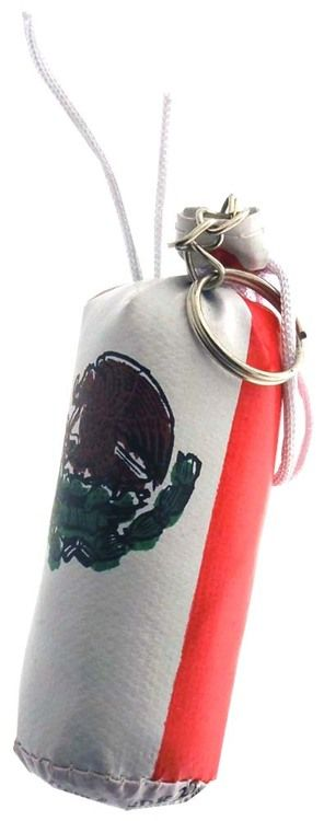 Mini Boxer Training Bag With Mexican Flag, And Key Ring On The End : ( Pack of 1 Pc )