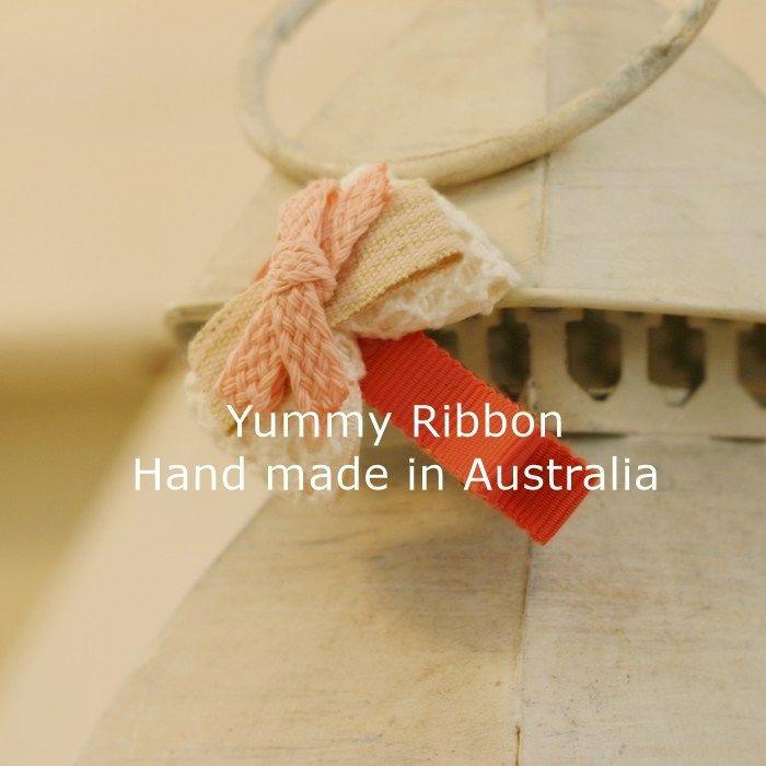 Distant Memory2 | s12  Minisize ribbon bow clip  100% Handmade in Australia  Bow size: 5cm x 2.5cm (apporx)  Clip length : 5cm(alligator clip)