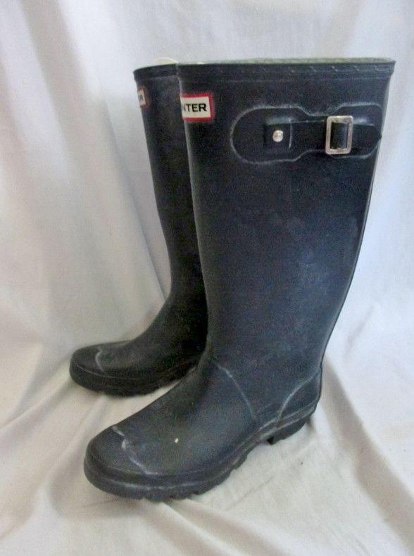 Womens HUNTER HUNTRESS W23179 Wellies Rain Boots Gumboots NAVY BLUE 7 Vegans