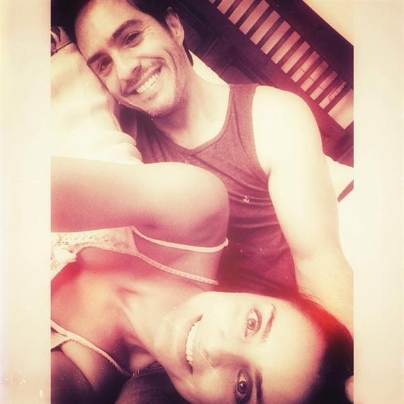 Aislinn Derbez publicó esta foto donde está con Mauricio Ochmann, en su cuenta de Instagram, el 14 de septiembre de 2014.