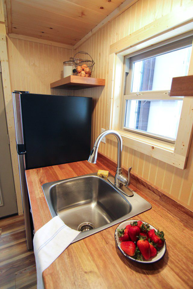 Houston By American Tiny House Tiny Living Kitchen Remodel Small Tiny House Kitchen Kitchen Sink Remodel