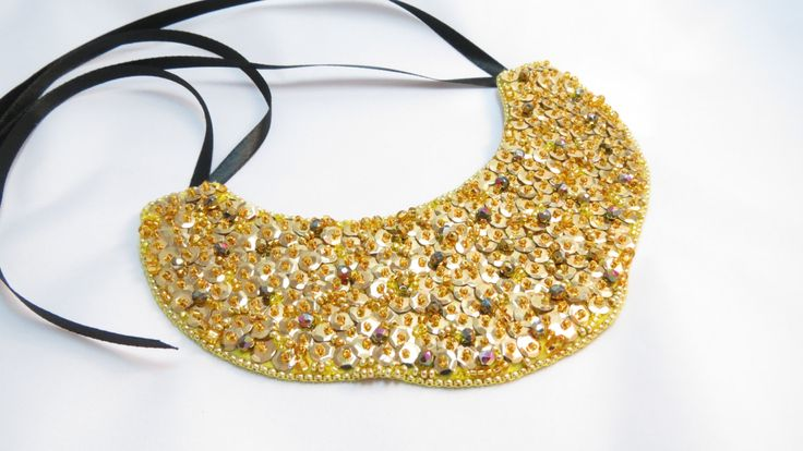 Golden Bead Necklace Gold Stone Necklace от JewelryPollysWorld