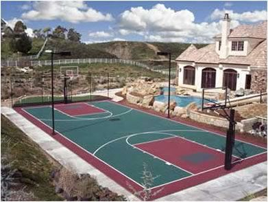 37 best images about sport court backyard courts on for Sport courts for backyards