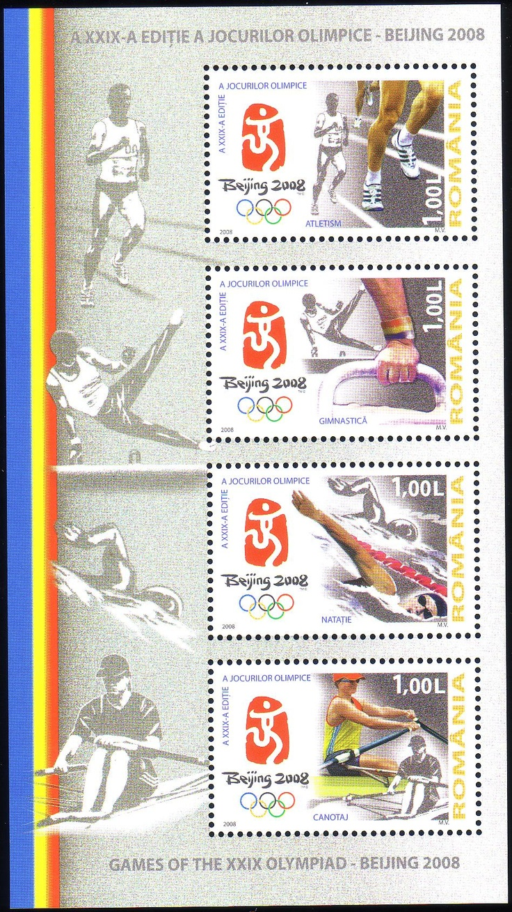 Stamps from Romania | Beijing 2008, Olympic Games