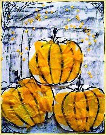 Tableau de citrouilles