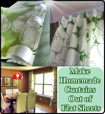 The Homestead Survival | Make Homemade Curtains Out of Flat Sheets | Frugal - Homesteading   http://thehomesteadsurvival.com