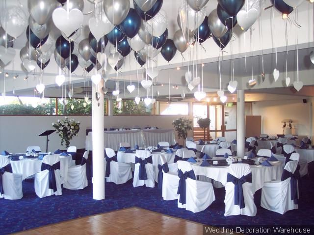 Bows around chairs or lots of balloons in the air