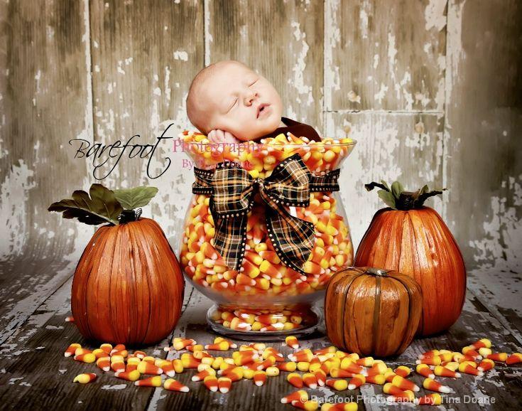 fall halloween thanksgiving candy newborn photographyPhotos Ideas, Fall Baby, Halloween Thanksgiving, Candies Corn, Fall Halloween, October Baby, Newborns Photography, Baby Photos, Fall Photos