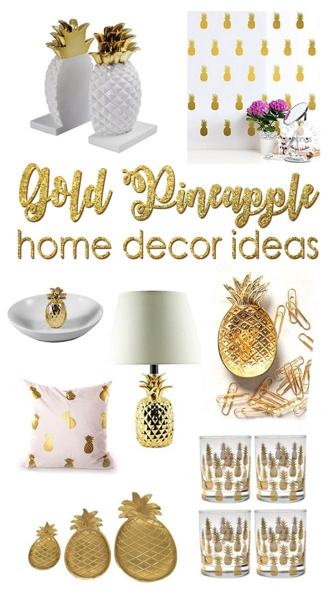 20 Beautiful Gold Pineapples For Home Decor Pineapple Room Decor Funky Home Decor Pineapple Decor