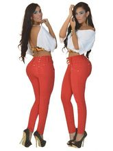 Red women butt lifting sexy skinny jeans Best Seller follow this link http://shopingayo.space