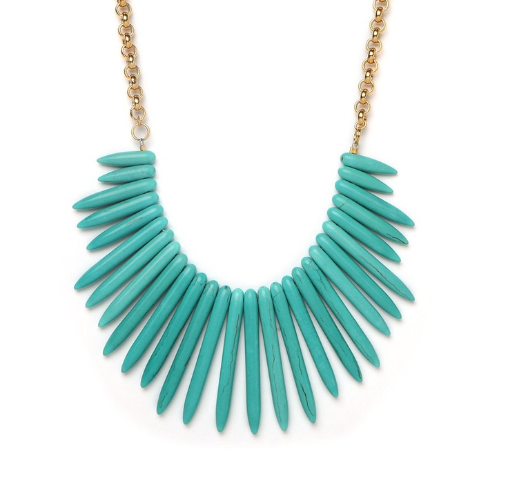 turquoise: Spike Necklace, Bib Spike, Style, Statement Necklace, Turquoise Necklace, Jewelry, Bibs, Bib Necklaces