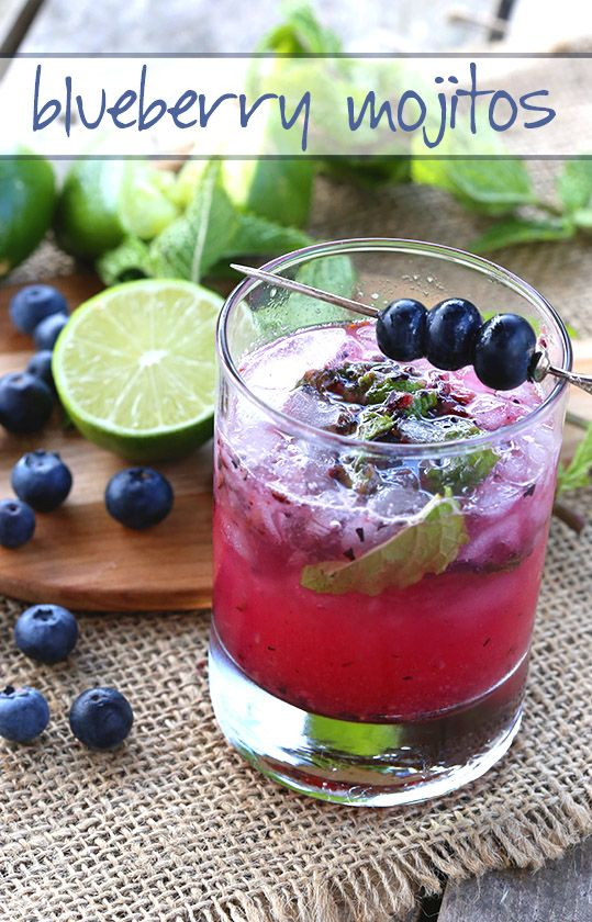 Low Carb Sugar-Free Blueberry Mojito Recipe