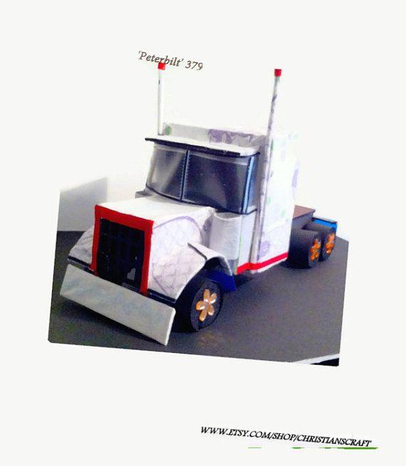 Truck art; Diaper truck; Diaper tractor Peterbilt; by Christianscraft, $250.00