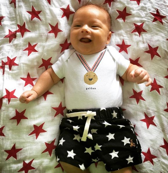Boomer Phelps. Look how sweet and patriotic he is!
