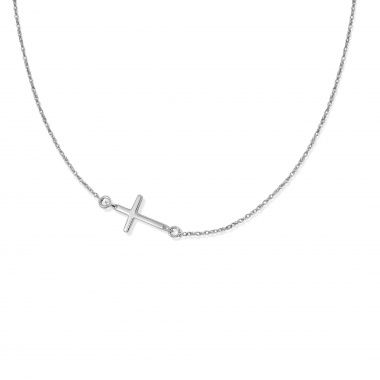 Wear the cross by Lilou on a 925 silver chain, symbol of faith and hope! #lilou #chain #cross #faith #hope #silver