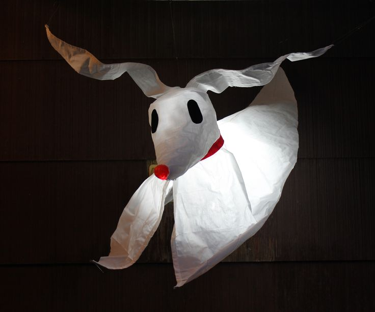 This Zero from the Nightmare Before Christmas is easy and cheap to make. In fact, there's so little to it, we were able to make him while my partner a...