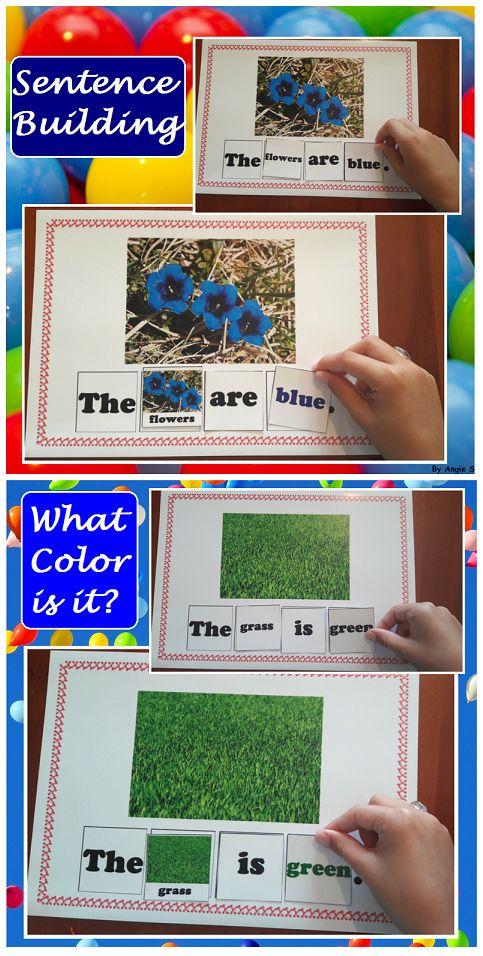 Sentence Building Activity – What color is it?
