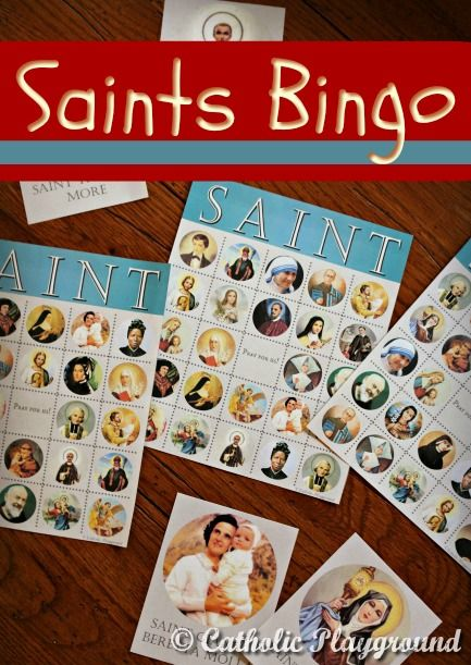 With tokens and these free printable SAINT Bingo cards, you can add a fun game to your next All Saints' Day party!
