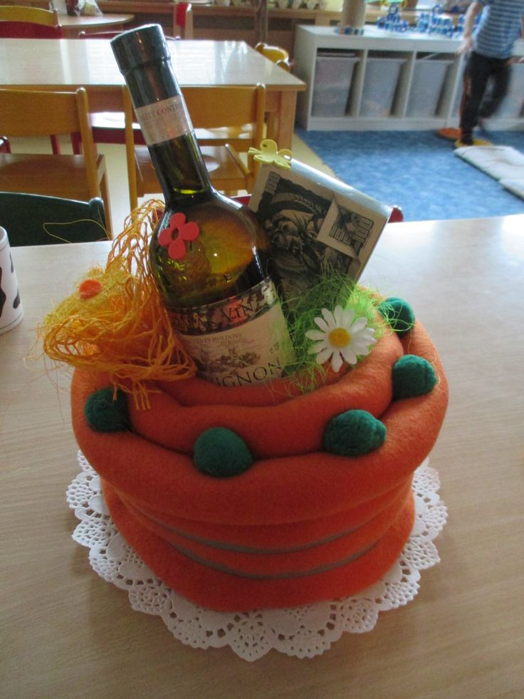 Textilní dortík.
