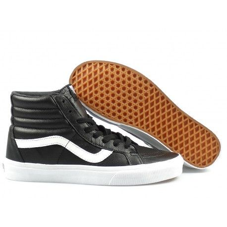 Vans  - Sk8-Hi Reissue Premium Leather - Black