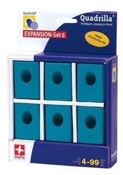 Quadrilla EXPANSION Set 6 (6 teal blocks)