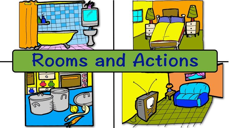 Rooms and Actions   At Home   Easy English Conversation Practice   ESL  ...