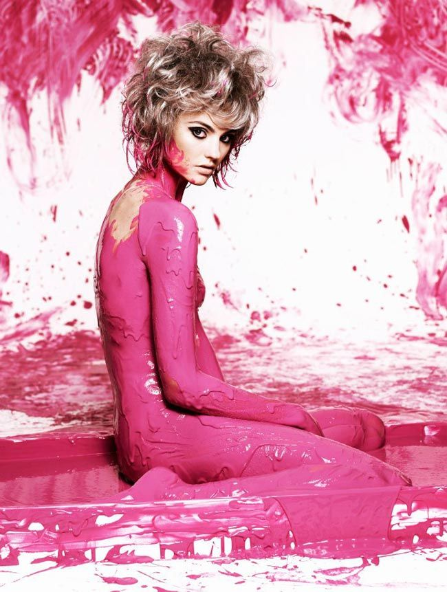 PAINT. (Montana from Australia's Next Top Model)  Although, I wonder how good it is for you to have carcinogens up your...