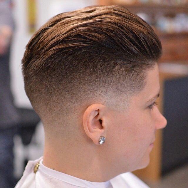Taglio Maschile Su Donna Girl Fade Haircut Tagli