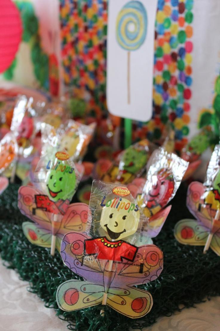 butterfly lollypops