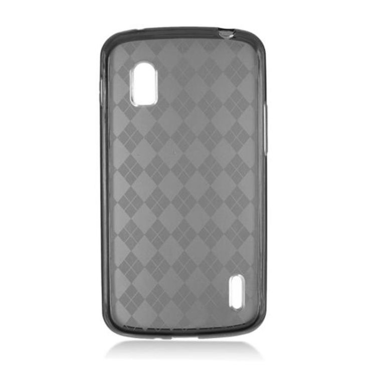 Insten Clear TPU Rubber Candy Skin Case Cover For LG Google Nexus 4 E960