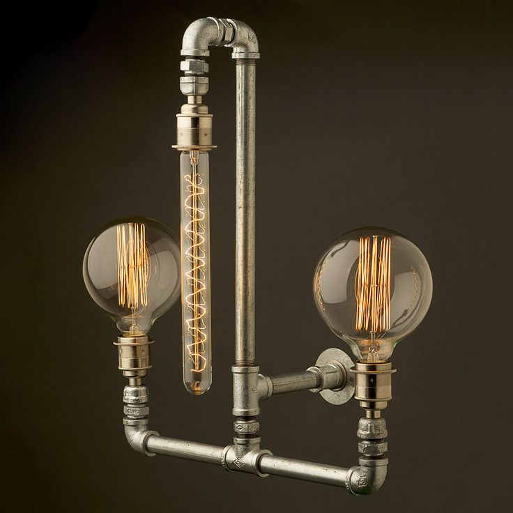 Edison Light Globes created from reusing #plumbing fixtures. www.plumbingplus.net