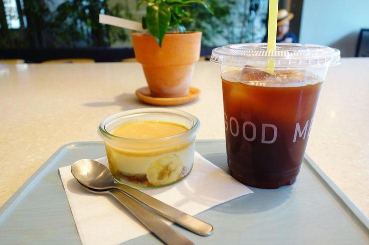 ジャースイーツのバタースコッチバナナとアイスコーヒー #meallog #food #foodporn #tw