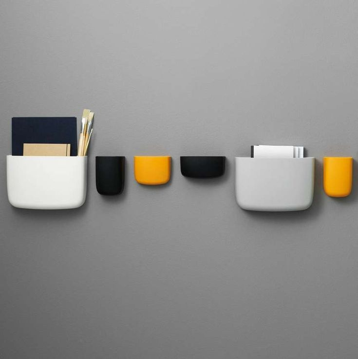 Pocket is a versatile and decorative wall-mounted storage solution that's suitable for any part of your home where extra storage space is needed. Pocket is available in four different sizes and is useful for countless purposes ranging from a magazine holder to the storage of pencils, make-up, kitchen utensils, plants and lots more. Available in six different colours and four different sizes the combinations are limitless. Pocket is mounted on the wall with a sliding bracket ...read more…